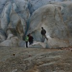 At glacier's edge