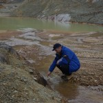 Testing mineral levels in the water