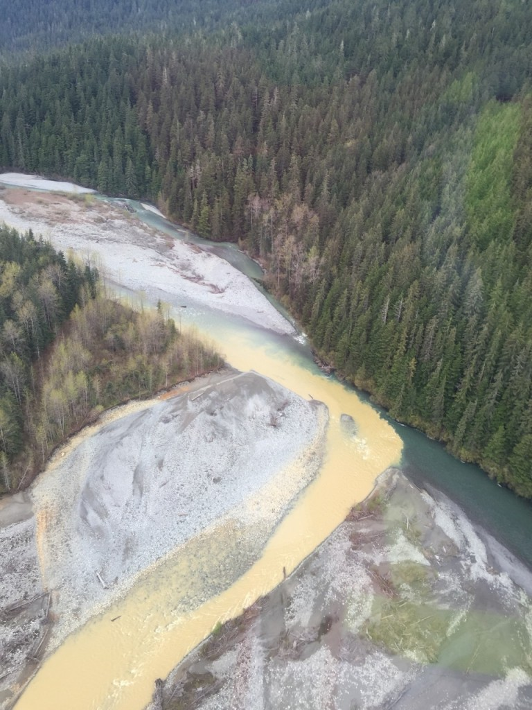Unuk River and Sulphurets Creek Confluence - Spring 2016