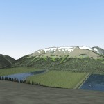 Artist Rendering Post Closure Tailings Management Facility