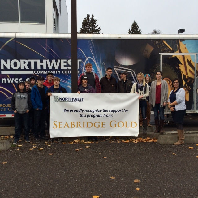 Some of the students Seabridge has supported through its donation to the Northwest Community College's Mobiles Trades Unit program.